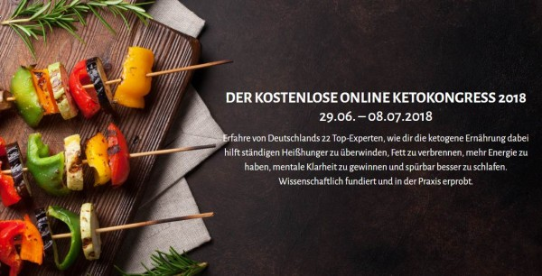 Kostenloser Online Ketokongress 2018 ab 29.06.2018